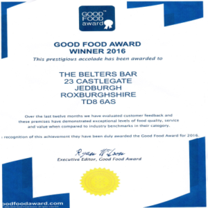 Good Food Award 2016