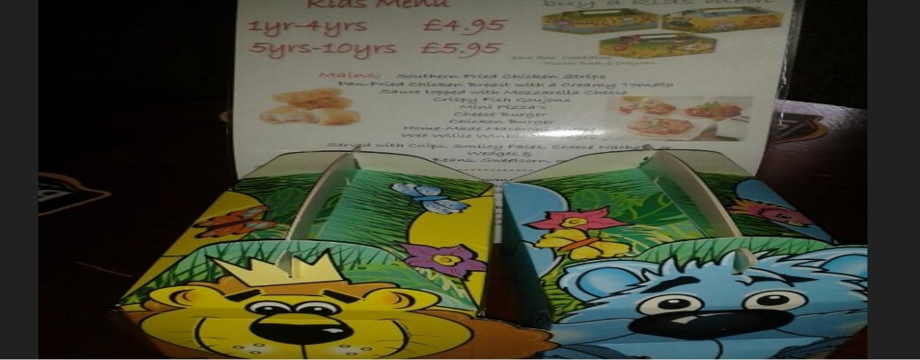 The Belters Bar Childrens Menu