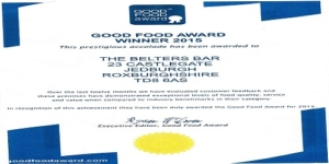 good food award 2015 belters