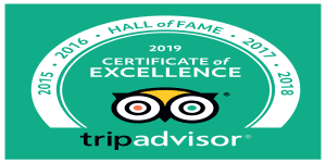 Belters Bar certificate of excellence 2019 -Hall of Fame
