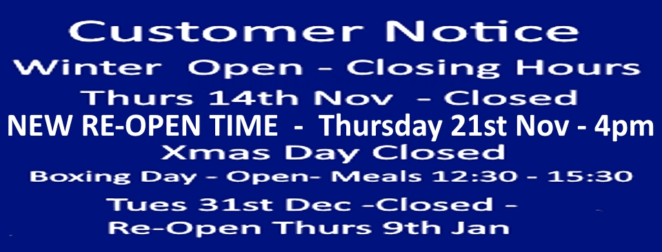 Belters Bar Winter Hours