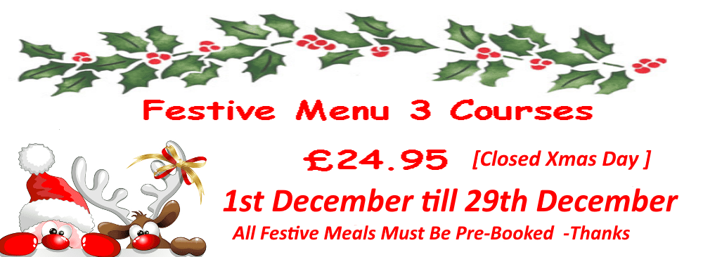 Belters Bar Festive Menu 2019