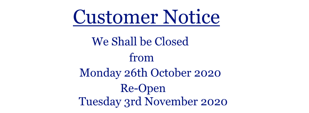 Belters Bar Closing Dates